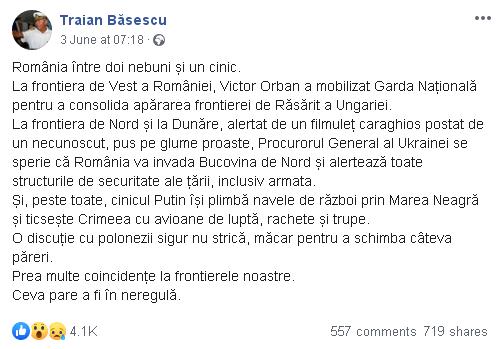 postare Băsescu