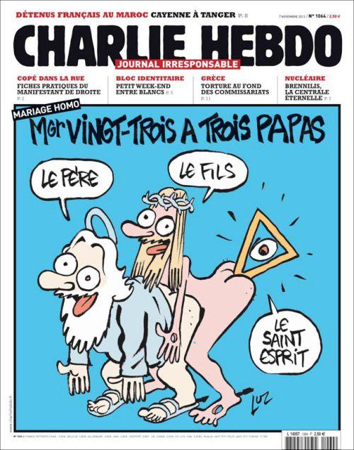 Charlie Hebdo - Tatăl, Fiul și Sfântul Duh