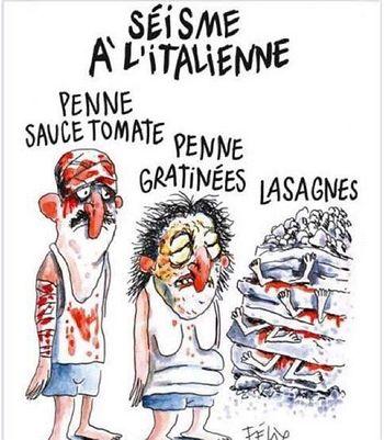 Charlie Hebdo - paste italiene